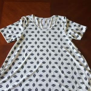LuLaRoe football print Perfect tee